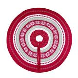 Transpac Nordic Tree Skirt Polyester in Red/White, Size 40.0 W in   Wayfair Y6086ZU