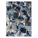 World Rug Gallery Indoor Rugs Gray - Gray & Blue Modern Floral Avora Rug
