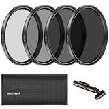 Neewer 58MM Neutral Density ND2 ND4 ND8 ND16 Filter and Accessory Kit for Canon EOS Rebel T6i T6 T5i T5 T4i T3i SL1 DSLR Camera, Lens Pen, Filter PouchIncluded