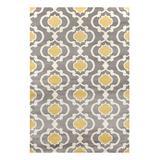 World Rug Gallery Indoor Rugs Yellow/Gray - Gray & Yellow Moroccan Lattice Toscana Rug