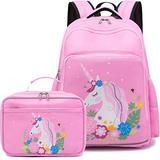 CAMTOP Backpack for Girls School Kids Backpack with Lunch Box Preschool Kindergarten BookBag Set (Y0066-2 Pink)