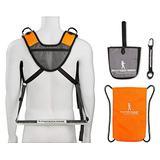Piggyback Rider SCOUT model - Child Toddler Carrier Backpack for Hiking Trails, Camping, Fitness Travel - Orange Bundle