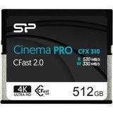 Silicon Power 512GB Cinema PRO CFX 310 CFast 2.0 Memory Card SP512GICFX311NV0BM