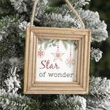 The Holiday Aisle® Frame Photo Ornament Wood in Black/Brown/Red, Size 4.61 H x 4.61 W x 0.59 D in | Wayfair ED9DD2A559BD41AC947BF3962D6BA5B9