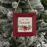 The Holiday Aisle® Frame Photo Ornament Wood in Black/Brown/Green, Size 4.61 H x 4.61 W x 0.59 D in | Wayfair 1774F49DEC054ECE807C19FC6A8ACD60