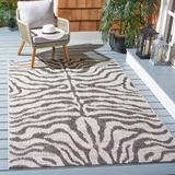 World Menagerie Disrupt Animal Print Area Rug Polyester/Polypropylene in Gray, Size 91.0 H x 65.0 W x 0.2 D in | Wayfair