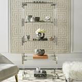 """Mercer41 Foulkes 66"""" H x 30"""" W Etagere Bookcase Plastic in Gray, Size 66.0 H x 30.0 W x 16.0 D in   Wayfair WRLO5404 40708677"""