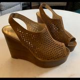 Coach Shoes   Coach Chasity Sling Back Wedge - 8   Color: Brown/Tan   Size: 8
