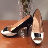 Nine West Shoes   Nine West Stunning Shoe Heel Peep Toe Pumps   Color: Black/White   Size: 6