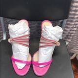 Gucci Shoes | Gucci Sandal Size 39 | Color: Cream/Pink | Size: 9