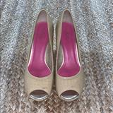Lilly Pulitzer Shoes   Lilly Pulitzer Peep Toe Wedges   Color: Cream/Tan   Size: 8
