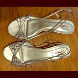 J. Crew Shoes   J.Crew Silver Kitten Heel Sandals   Color: Silver   Size: 8.5