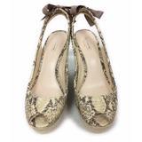 Coach Shoes | Coach Maritza Espadrille Platform Wedge Slingback | Color: Cream/Tan | Size: 8.5