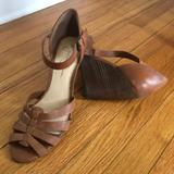 Jessica Simpson Shoes   Jessica Simpson Peep Toe Ankle Strap High Wedges   Color: Brown/Tan   Size: 10