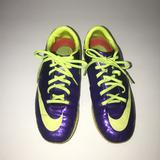 Nike Shoes | Nike Youth Mercurial Vapor Ix Indoor Soccer Shoes | Color: Black/Green/Purple | Size: 3.5bb
