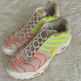 Nike Shoes | Nike Womens Air Max Plus | Color: Green/Pink/Yellow | Size: 9
