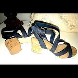 Nine West Shoes | Nine West Strappy Sandal | Color: Blue | Size: 7.5