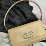 Gucci Bags | Like New Authentic Tan Gucci Evening Bag | Color: Silver/Tan | Size: Os