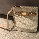 Michael Kors Bags | Michael Kors White Signature Crossbody | Color: Cream/Gold | Size: 9 14 By 10 In Tall