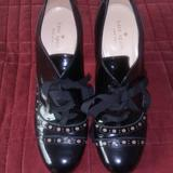 Kate Spade Shoes | Kate Spade Mary Jane Black Patent Leather Heels | Color: Black | Size: 9