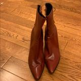 Nine West Shoes | Nine West Red Leather Boots | Color: Red | Size: 8