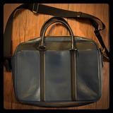 Coach Bags   Navy Blue Coach Laptop Bag   Color: Black/Blue   Size: Os