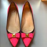 Kate Spade Shoes | Kate Spare Neon Pink And Navy Blue Kitten Heels | Color: Blue/Pink | Size: 7.5