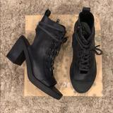 Free People Shoes | Free People City Of Lights Leather Heel Boot Nwt | Color: Black | Size: 7