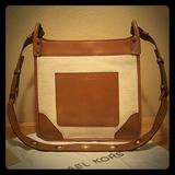 Michael Kors Bags | Michael Kors Womens Sullivan Messenger Handbag | Color: Cream/Tan | Size: Os