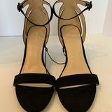 Nine West Shoes | Nine West High Heel Shoes Suede Ankle Strap Black | Color: Black | Size: 10