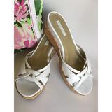 Nine West Shoes | Nine West Slip-On Wedges | Color: White | Size: 8.5