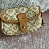 Dooney & Bourke Bags   Dooney & Burke Makeup Bag Or Clutch   Color: Cream/Pink   Size: Os