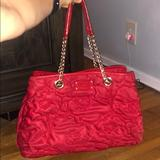 Kate Spade Bags   Red Kate Spade Purse With Chain Strap   Color: Gold/Red   Size: Os