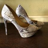 Jessica Simpson Shoes   Jessica Simpson Snake Skin Platform Pump   Color: Gray/White   Size: 8.5