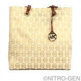 Michael Kors Bags | Michael Kors Jet Set Signature Jacquard Tote Nwt | Color: Brown/Tan | Size: Os