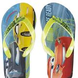 Disney Shoes   Cars Flip Flops With Heel Strap Toddler Size 78   Color: Blue/Yellow   Size: Toddler Boy 78