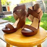 Jessica Simpson Shoes | Jessica Simpson Platform Wedge | Color: Orange | Size: 7.5