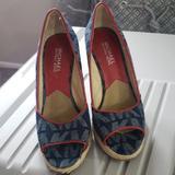 Michael Kors Shoes | Michael Kors Wedges | Color: Blue/Red | Size: 6