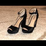 Nine West Shoes   Nine West Mary Jane Suede Open Toe Pumps   Color: Black   Size: 8