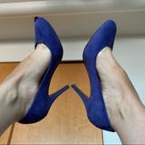 J. Crew Shoes | J. Crew Iris Blue Leather Suede Pump Stiletto Heel | Color: Blue/Purple | Size: 7
