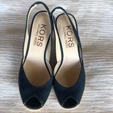 Michael Kors Shoes   Michael Kors Suede Slingback Peeptoe Espadrilles   Color: Blue   Size: 6.5