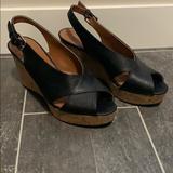 Nine West Shoes | Nine West Cork Wedge Slingback | Color: Black | Size: 7