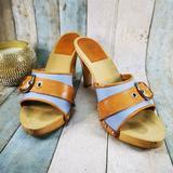 Coach Shoes   Coach Wood High Heels   Color: Blue/Silver   Size: 6