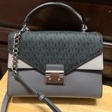 Michael Kors Bags | Michael Kors Double Flap Sloan Top Handle Handbag | Color: Gray | Size: Os