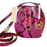 Michael Kors Bags   Micheal Kors Frankie Mini Snake Raspberry Leather   Color: Pink   Size: Os
