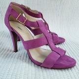 J. Crew Shoes | J.Crew Strappy Suede Sandals | Color: Purple | Size: 8.5