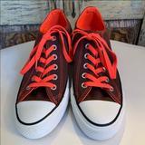 Converse Shoes | Converse Allstar Sneaker | Color: Gray/Orange | Size: 4