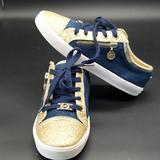 Michael Kors Shoes   Michael Kors Girls Fashion Sneakers   Color: Blue/Gold   Size: 4g