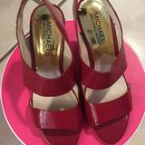 Michael Kors Shoes | Mk Red High Heel Sandals | Color: Red | Size: 5.5