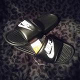 Nike Shoes   Nike Benassi Jdi Slides   Color: Black/White   Size: Various